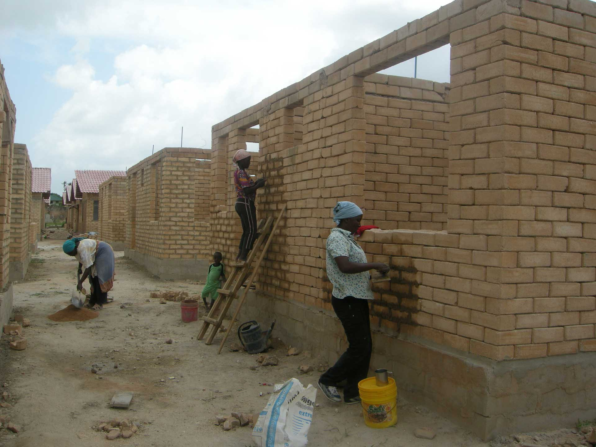 Dar es Salaam, Tanzania: Dispossessed community finances and builds affordable homes