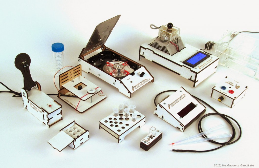 DIY lab equipment featured on Switzerland's GaudiLabs' webpage.