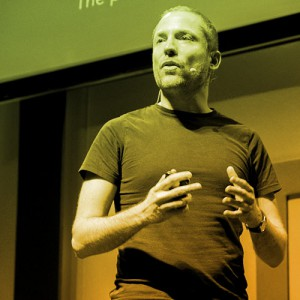 Aral Balkan speaking at a conference