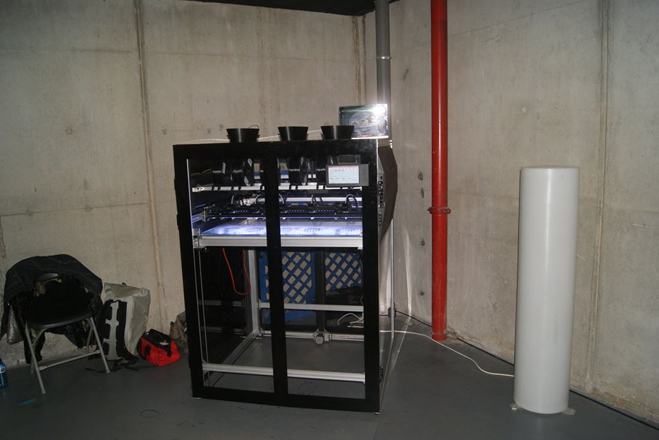 A 3D-printer developed by one of the members